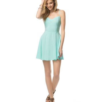 Aeropostale Womens Sleeveless Solid Skater Dress