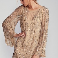 Sequin Sparkle Bow Mini Dress