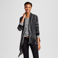 Women's Printed Fringe Cardigan - Alley & Gabby (Juniors')