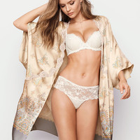 Lace-trim Satin Kimono - Dream Angels - Victoria's Secret