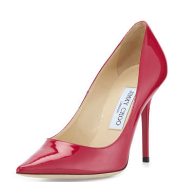 Jimmy Choo Abel Patent Pointy Pump, Raspberry