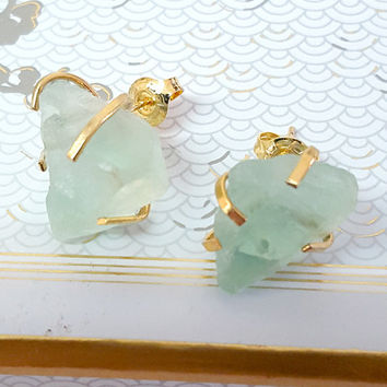 Raw Stone Earrings for her