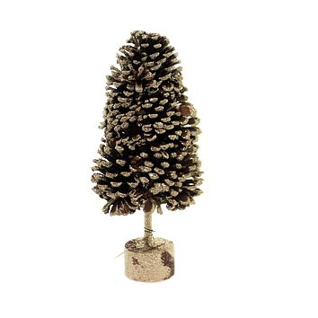 Christmas PINECONE TREE GOLD GLITTER13 IN Paper Holiday Festive Xm4119