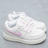 HCXX 19Aug 843 Nike Air Force 1 Kid Low Sneaker Casual Fashion Skateborad Shoes
