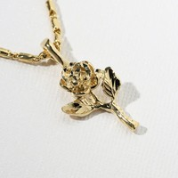 The Mini Gold Rose Necklace