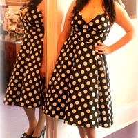 Rock On Polka Dot Rockabilly Party Dress