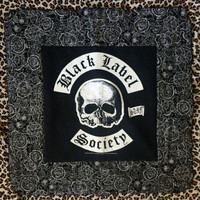 BLACK LABEL SOCIETY - Upcycled T-shirt Mini Baby Quilt - ooak