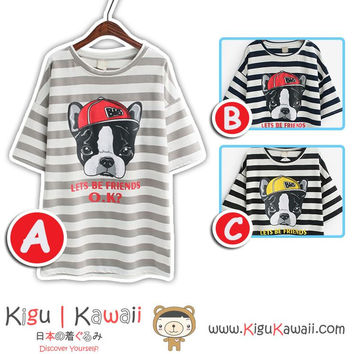 New Cool Swag Dog Summer Stylish Loose Tshirt Korean Style Tops 3 Designs KK740