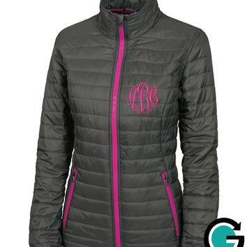 CUSTOM Monogram Quilted Jacket -- Sorority Letters or Initials!