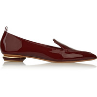 Nicholas Kirkwood - Beya patent-leather point-toe flats