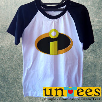 Incredibles Logo Superhero Short Raglan Sleeves T-shirt