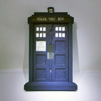 Doctor Who Tardis light Switch Plate - TARDIS light switch Cover - Sci Fi - Geekery - Police Box Light Switch Cover