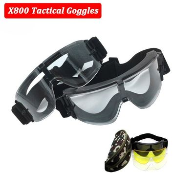 USMC Military Airsoft Glasses X800 Tactical Sunglasses Eye Protective Goggles 3 Lens Hunting Army Combat Goggles