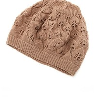 Leaf Patterned Knit Beret: Charlotte Russe