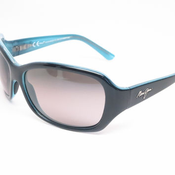 Maui Jim Pearl City MJ GS214-03A Black with Blue Polarized Sunglasses