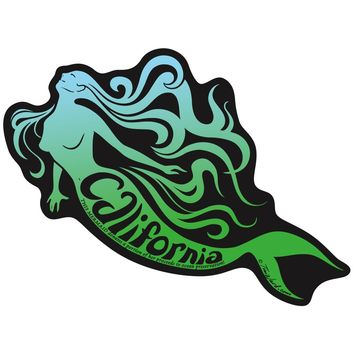 California Mermaid Sticker