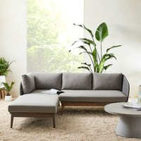 Corded Weave 2-Piece Chaise Sectional