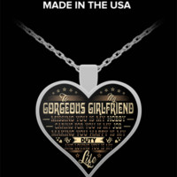 """""""Life"""" Heart Pendant Necklace for Girlfriends - Best Gifts for Girlfriends"""