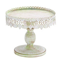 Cake Stand Vintage Pedestal Plate Dessert Wedding Display Birthday Party Metal