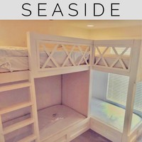 "SeaSide Twin ""L"" quad bunk beds"