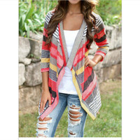 Patchwork Three-quarter Sleeve Jacket [7322502081]