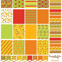 50% OFF Sale! DIY October Fall Harvest Printable Planner 48 Stickers Sheet 1 of Kit in PDF and jpeg Erin Condren Life Planner Kikkik Filofax