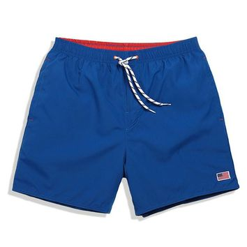 Summer Outdoor Quick-drying Beach Shorts Mens Multi-pocket Mesh Lined Casual Swimming Shorts