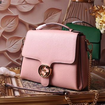 GUCCI WOMEN'S NEW STYLE LEATHER HANDBAG SHOULDER BAG