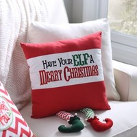 Have Your Elf a Merry Christmas Pillow