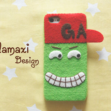 Handmade Hip-hop Boy Phone Case, Boy with Hat iPhone Cover, Handcrafed Felt Case for iPhone 4/4S/5/5S/5C, Custom Phone Case Cover, Gift Idea