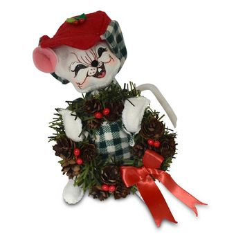 Annalee Dolls 6in 2018 Christmas Northwoods Boy Mouse Plush New with Tags