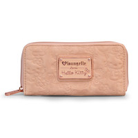 Hello Kitty Blush Embossed Face Women's Wallet With Rose Gold