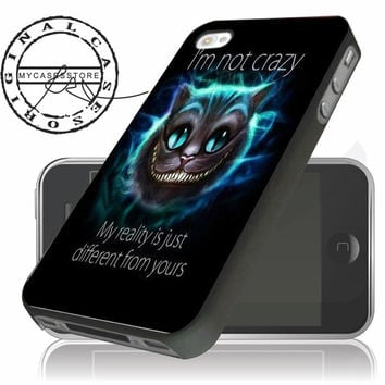 Crazy Cat Alice Wonderland Disney Quote iPhone 4s iPhone 5 iPhone 5s iPhone 6 case, Samsung s3 Samsung s4 Samsung s5 note 3 note 4 case, Htc One Case