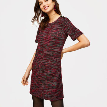Tweed Pocket Shift Dress | LOFT