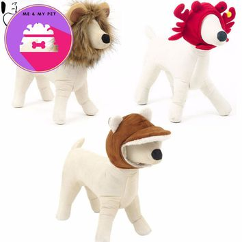 Hoopet Pet Dog Cat Hat Funny Rabbit Crab Lion Mane Wig Hat Party Cosplay Costume Accessory Head Wear