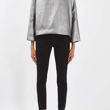 Metallic Funnel Sweatshirt by Boutique - Tops - Clothing