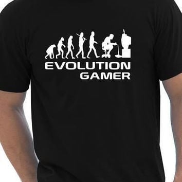 Evolution Of A Gamer PC Geek Gift Funny Mens T Shirt More Size and Colors