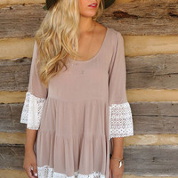 Fall In Lace Sweet Loose Dress
