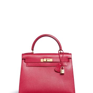 Vintage Hermès | Kelly 28cm Courchevel leather bag | Women | Lane Crawford - Shop Designer Brands Online