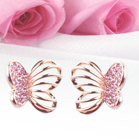 Shiny Sparkinng Butterfly Earrings