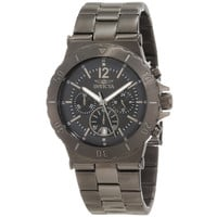 Invicta 1268 Men's Specialty Black Dial Gunmetal Plated Stainless Steel Chronograph Watch