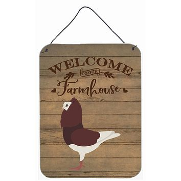 Capuchin Red Pigeon Welcome Wall or Door Hanging Prints CK6892DS1216