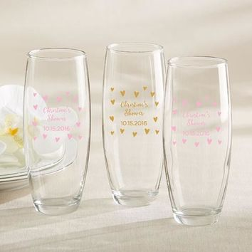 Personalized 9 oz. Stemless Champagne Glass - Sweet Heart