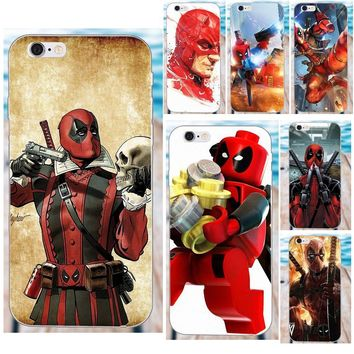Soft Cover Case New Deadpool Marvel Superheroes For Apple iPhone 4 4S 5 5C SE 6 6S 7 8 Plus X Galaxy Grand Core II Prime Alpha