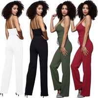 Womens Trendy Backless Casual Jumpsuit