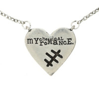 My Chemical Romance Stitch Heart Necklace