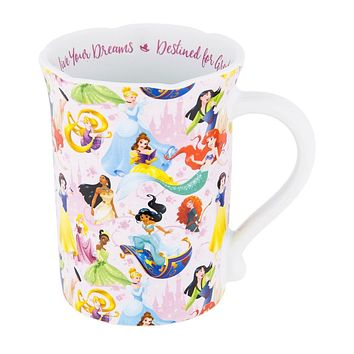 Disney Parks Princess Live Your Dreams Ceramic Coffee Mug New