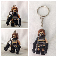 Lego BOGO Buy 1 Get 1 Promo! Lego® Captain America Winter Soldier Keychain, The Avengers, FREE Lego® Minifigure Keychain Party Favors Gift
