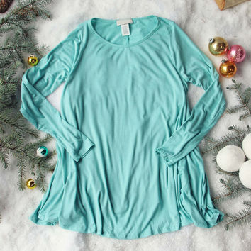 Soft & Cozy Tee in Turquoise