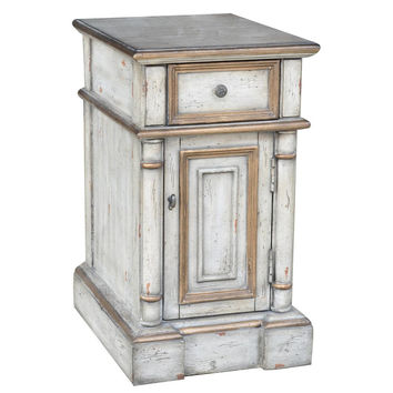 Crestview Collection Victoria 1 Drawer Chairside Cabinet